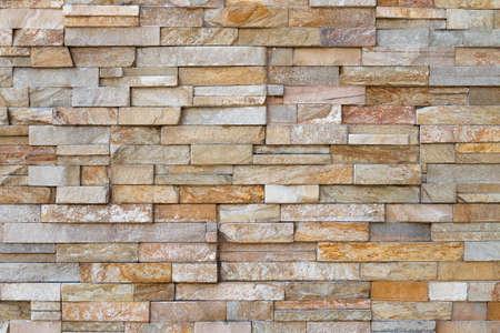 Tekstura ściany wykonana z płytek kamiennych Zdjęcie Seryjne