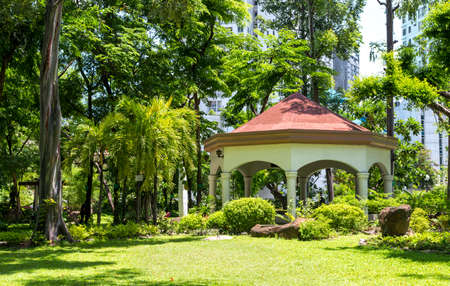 Park in the city center of Makati, Philippines 写真素材