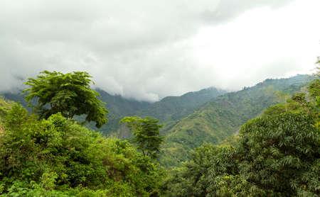 Baguio mountains on a rainy season, Philippines