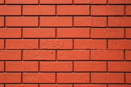 Texture of red, orange brick wall