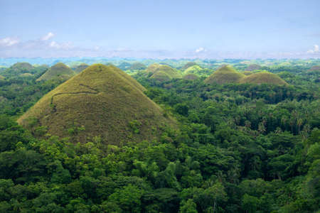 Chocolate Hills, Bohols most famous tourist attraction, Philippines Imagens