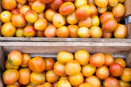 Local filipino tomato in the Philippines, closeup