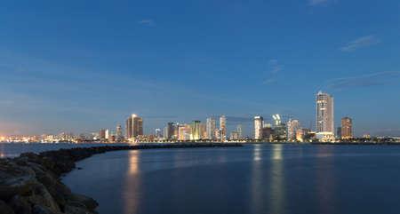 Panorama of Manila bay, Harbour square, Philippines