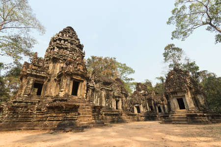 The ruins of Angkor Wat Temple complex in Cambodia