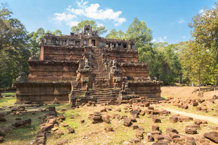 The celestial temple Phimeanakas, royal palace Angkor Thom in Angkor Wat heritage site, Siem Reap, Cambodia