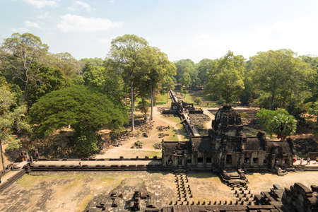 Ancient Khmer architecture. Panorama view of Baphuon temple at Angkor Wat complex, Siem Reap, Cambodia
