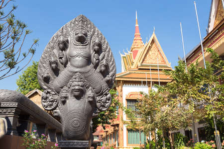 Siem Reap, Cambodia - February 1, 2017: Buddhist Temple Wat Preah Prom Rath
