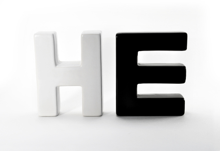 he: ceramic word HE