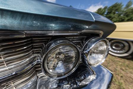 old school car headlight