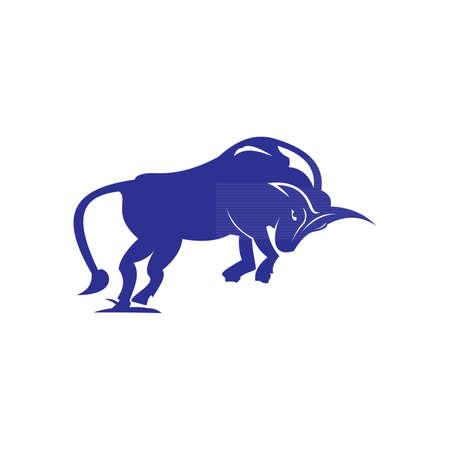 abstract bull logo Ilustrace