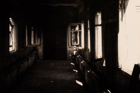 Abandoned Hospital, Horror, abyss  old black scary