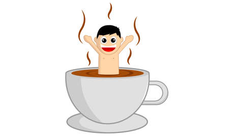 Coffee hot spring Vector