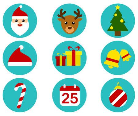 x mas background: Christmas Icon Set Illustration