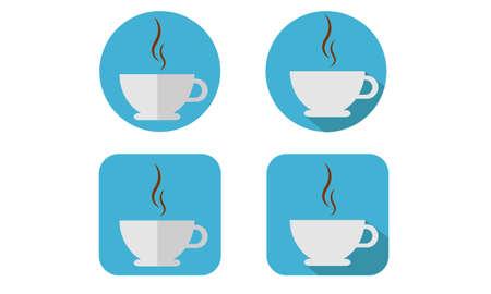 Koffie plat pictogrammen