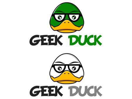 Geek Duck Logo Vector