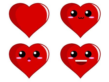 caras de emociones: Expresi�n del coraz�n