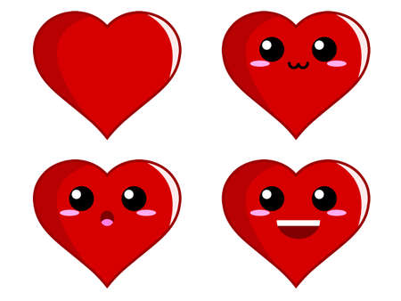 emotions faces: Heart Expression