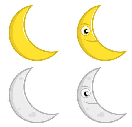 Moon Expression 向量圖像