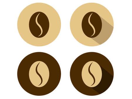semilla de cafe: Grano de café Iconos