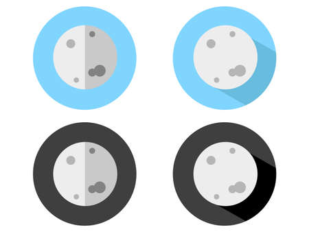half ball: Moon Icons
