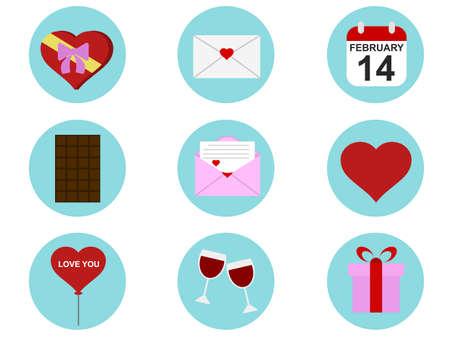 Valentine Icon Set Illustration