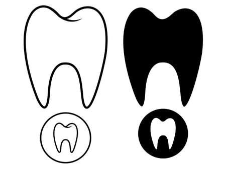 歯のシルエット 写真素材 - 35102175