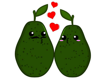 cute love: Avocado couple