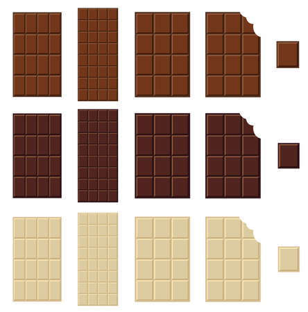 Chocolate bar isolated Illustration