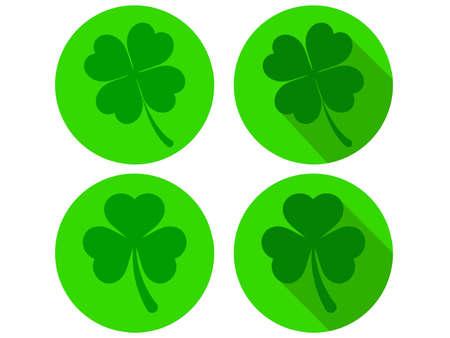 four leaf: Four Leaf Clover Icons