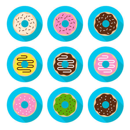 hungry kid: Donut Icons