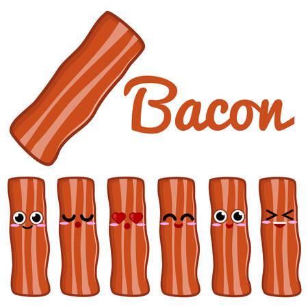 Bacon Character Векторная Иллюстрация
