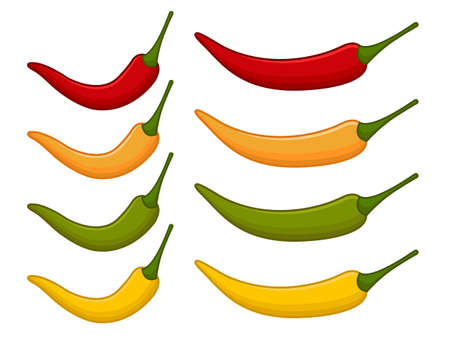 hot pepper: Isolated chili