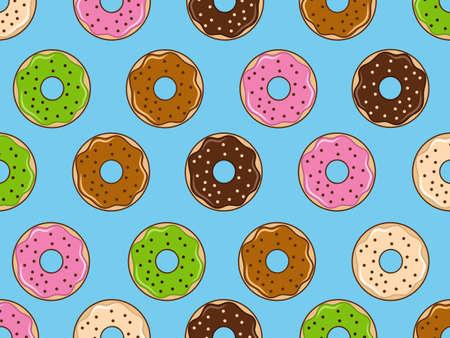 cartoons sweet: Donut background