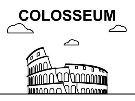colosseum: Colosseum Line Art