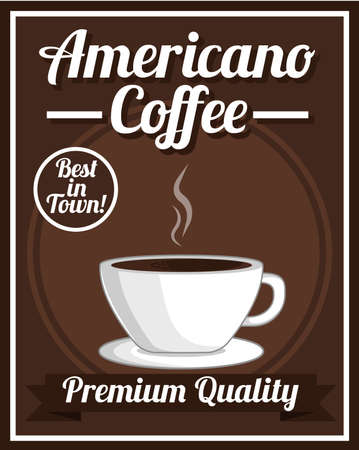 americano: Americano Coffee Poster Illustration