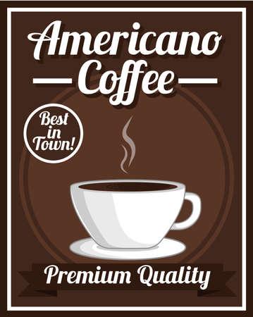 americano: Americano Coffee Poster Illustration