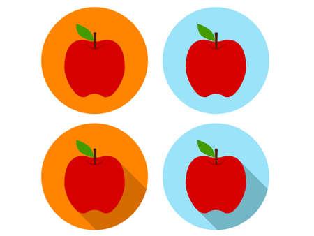 shapes cartoon: Apple Icons