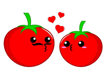 feel affection: Tomato couple