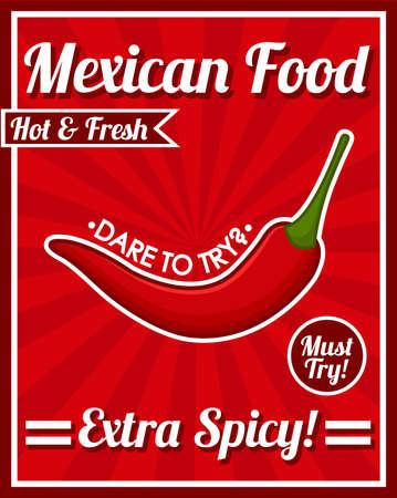 Mexicaans eten poster