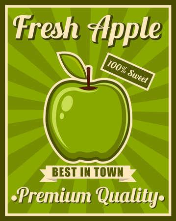 green apple slice: Green Apple Poster