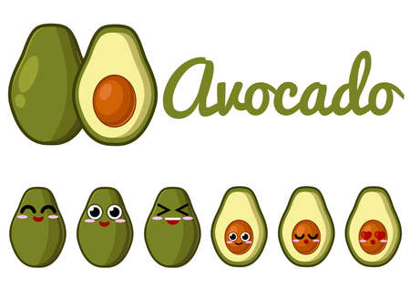 cute love: Avocado Character