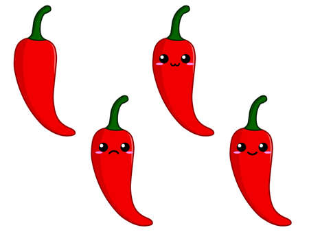 spicy mascot: Pepper character Illustration
