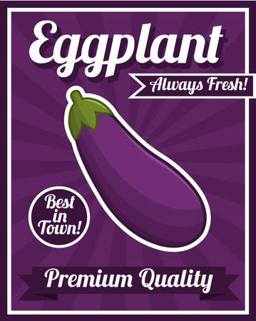 fruit and vegetable: Eggplant poster