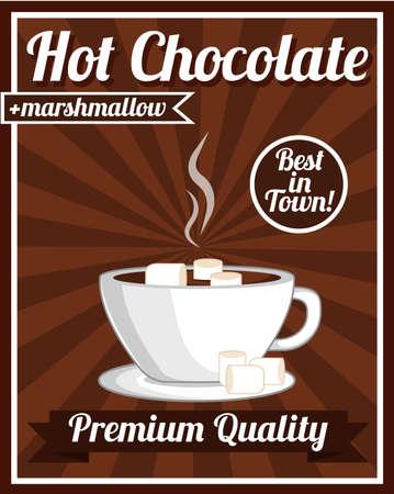 Cartel del chocolate caliente Ilustración de vector