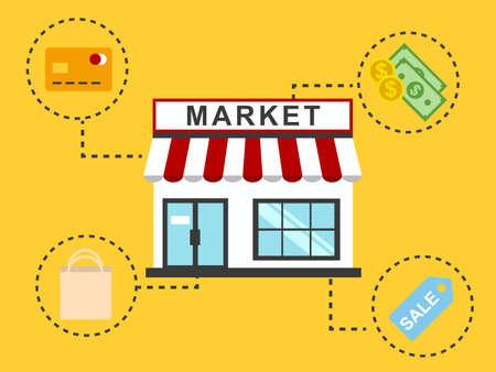 paperbag: Market Illustration