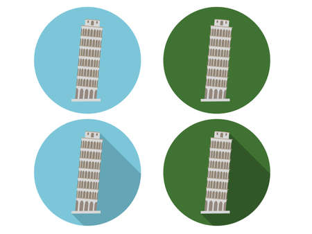 siena italy: Pisa tower icons