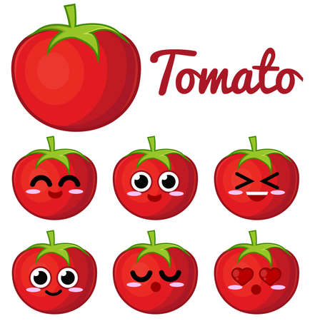 fruta tropical: Car�cter de tomate