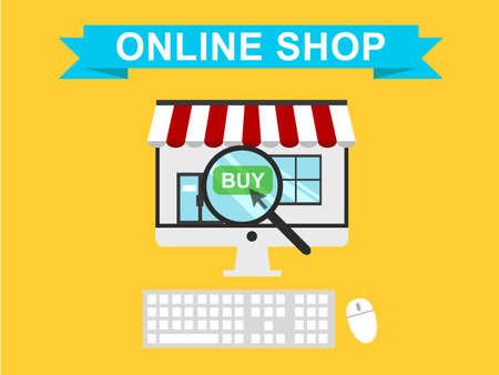 Online Shop Vector Illustration