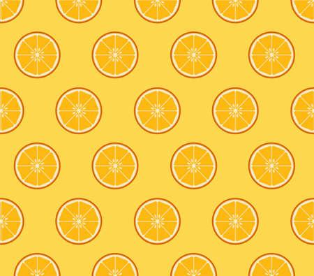 naranja fruta: Fondo de rodajas de naranja Vectores