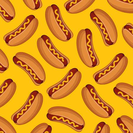 Hot Dog Hintergrund Standard-Bild - 53860192
